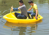 B2M Plastic Rowing Boat , LLDPE Small Plastic Boat LeisureWith Outboard Motor