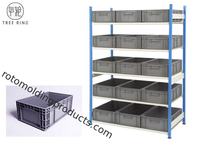 Grey Heavy Duty Storage Containers With Lids 600 X 400 X 230 Racking Shelving Bay