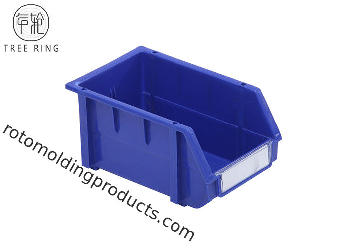235 * 148 * 124mm Plastic Bin Boxes , Plastic Warehouse Storage Bins Shelving