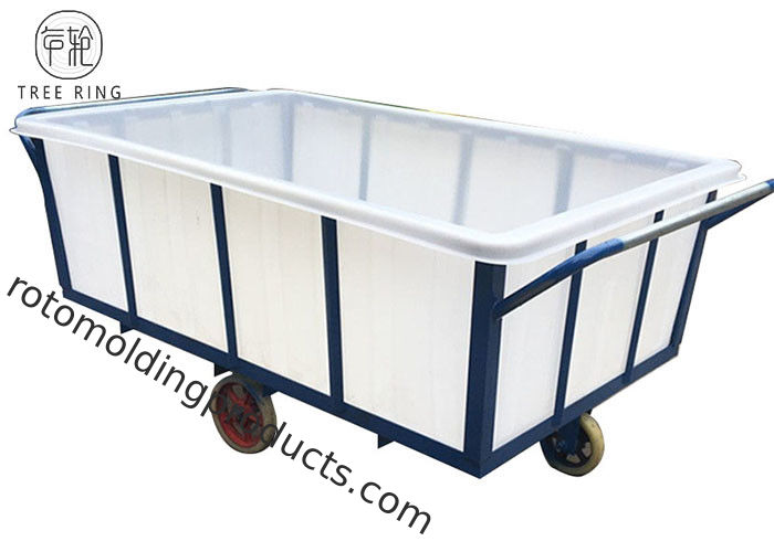 Textile Industrial Wet Poly Box Truck On Wheels With Galvanized Steel Durable K1600L