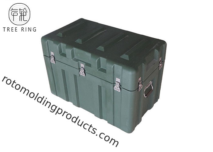 Pasokan Kotak Roto Molded Cases , Peralatan Militer Packing Hard Case Shipping Containers