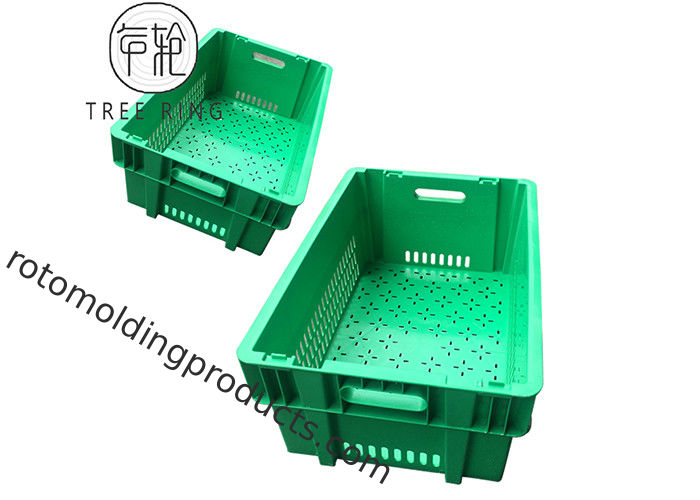 Hygienic 180* Collapsible Plastic Crate Heavy Duty 600 * 400 * 235mm With Lid
