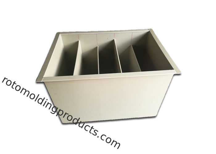 White Customized Welded Paint Collection Tank With Partition For Aquaponics