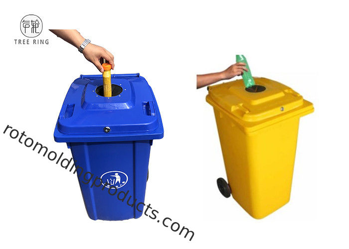 100 Lt Plastic Rubbish Bins Waste Wheelie Bin 120 Litre With Lock And Rubber Stopper